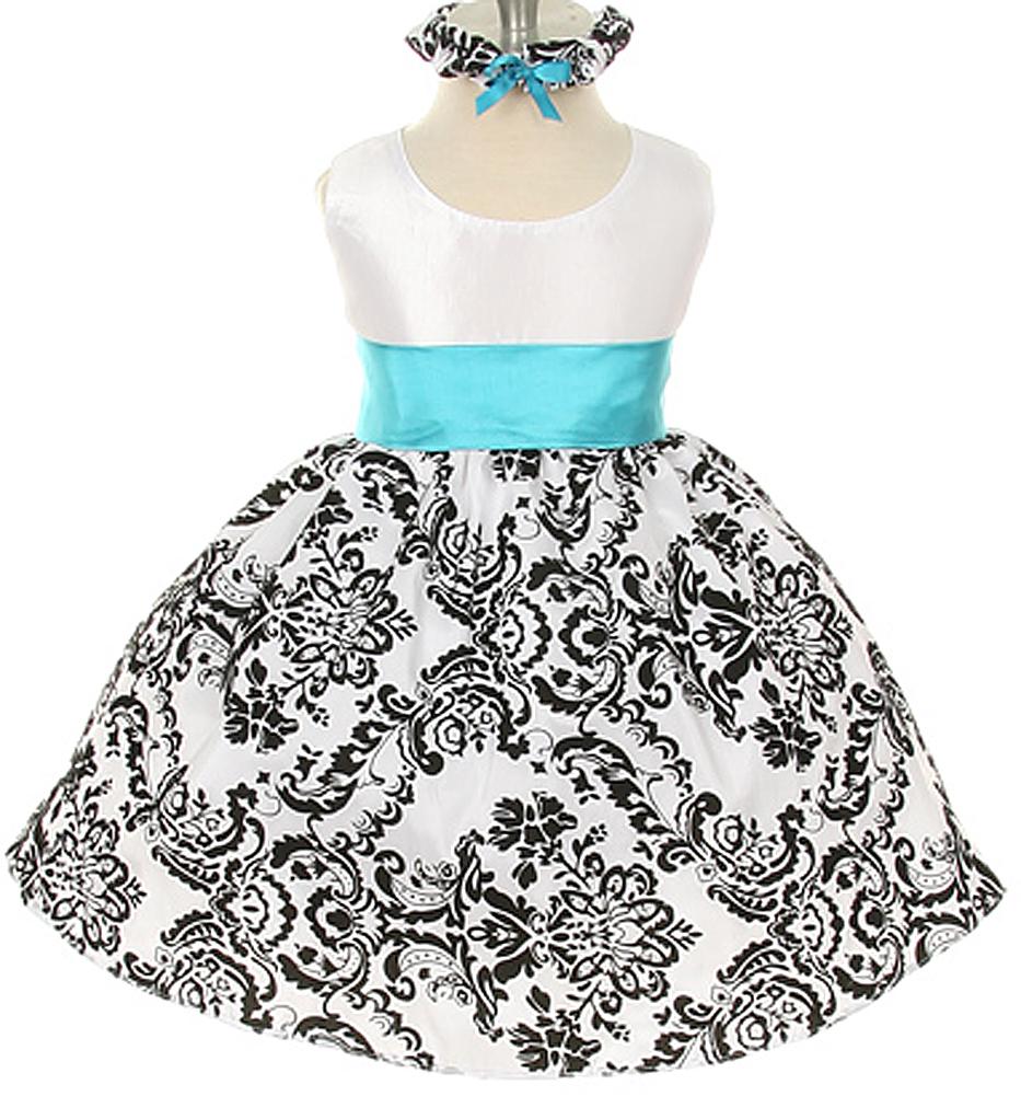 Kids Dream White Black Velvet Special Occasion Dress Black Sash Baby at Sears.com